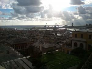 Genua - Sicht über den Hafen