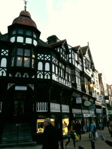Chester Row with Thudor Houses